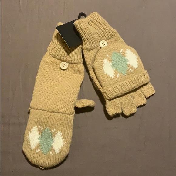 Izod Accessories - Izod fingerless convertible mittens